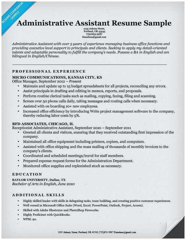 85 Nice Executive Assistant Resume Samples 2018 by Pictures