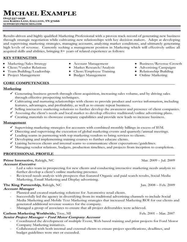 85 Top Sample Resume Format by Pics