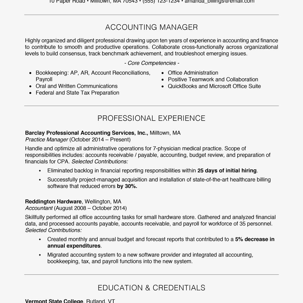 86 Fresh Free Professional Resume Samples by Ideas