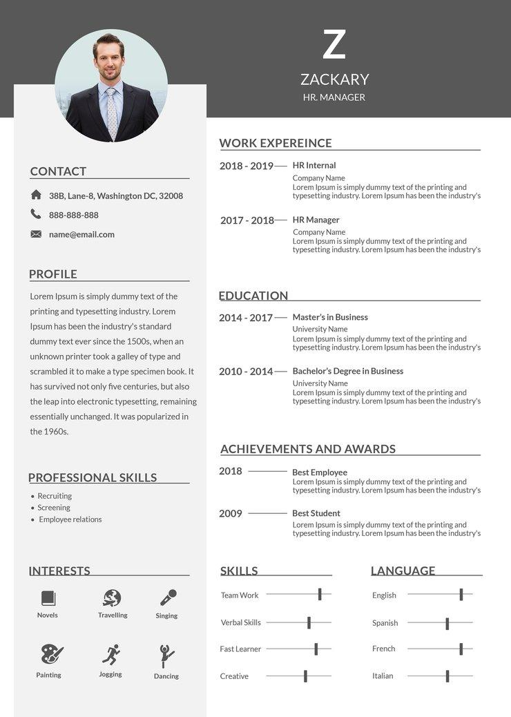 86 Inspirational Professional Cv Format In Ms Word with Pics