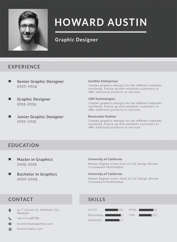 86 Nice Curriculum Vitae Template for Ideas