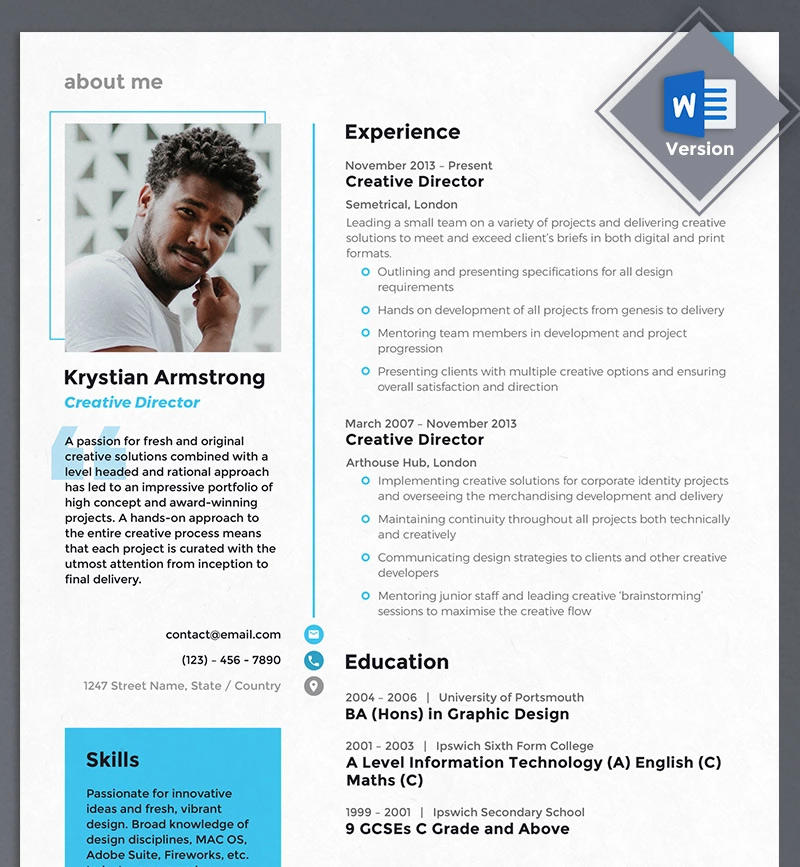 86 Top Graphic Resume Template by Pics