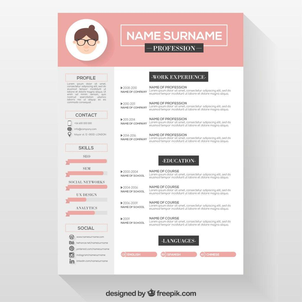 87 Awesome Cv Template Gratis with Pics
