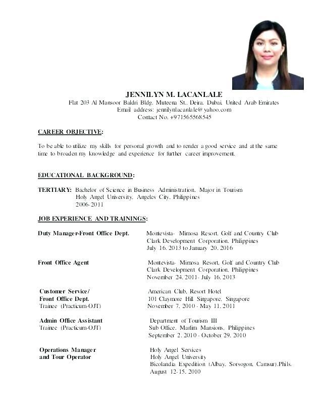 87 Beautiful Example Of Resume For Job Application Pdf by Gallery