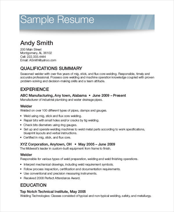 87 Great Free Printable Resume Templates by Images