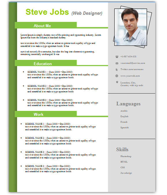 88 Great Resume Template Word Doc Free by Ideas