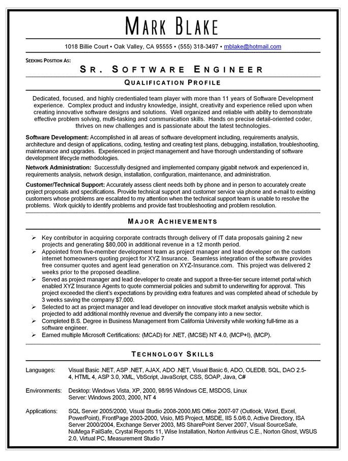 88 Inspirational Entry Level Software Developer Resume Sample for Design
