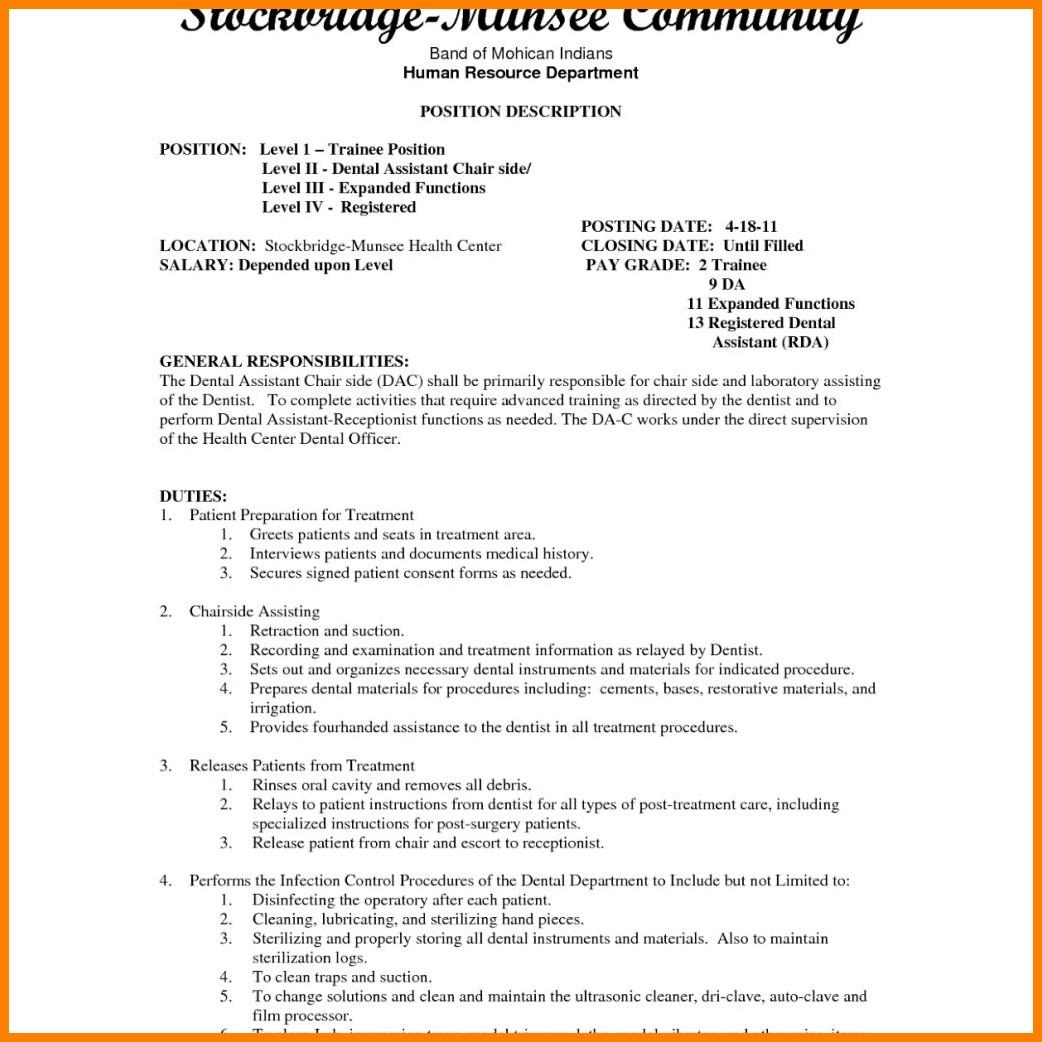 89 Awesome Dental Assistant Resume Skills Examples with Pics