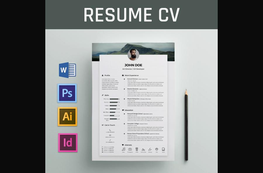 89 Beautiful Free Creative Resume Templates Microsoft Word with Graphics