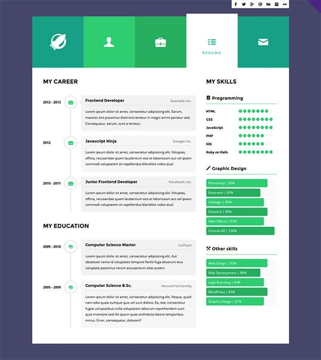89 Excellent Online Resume Template for Design