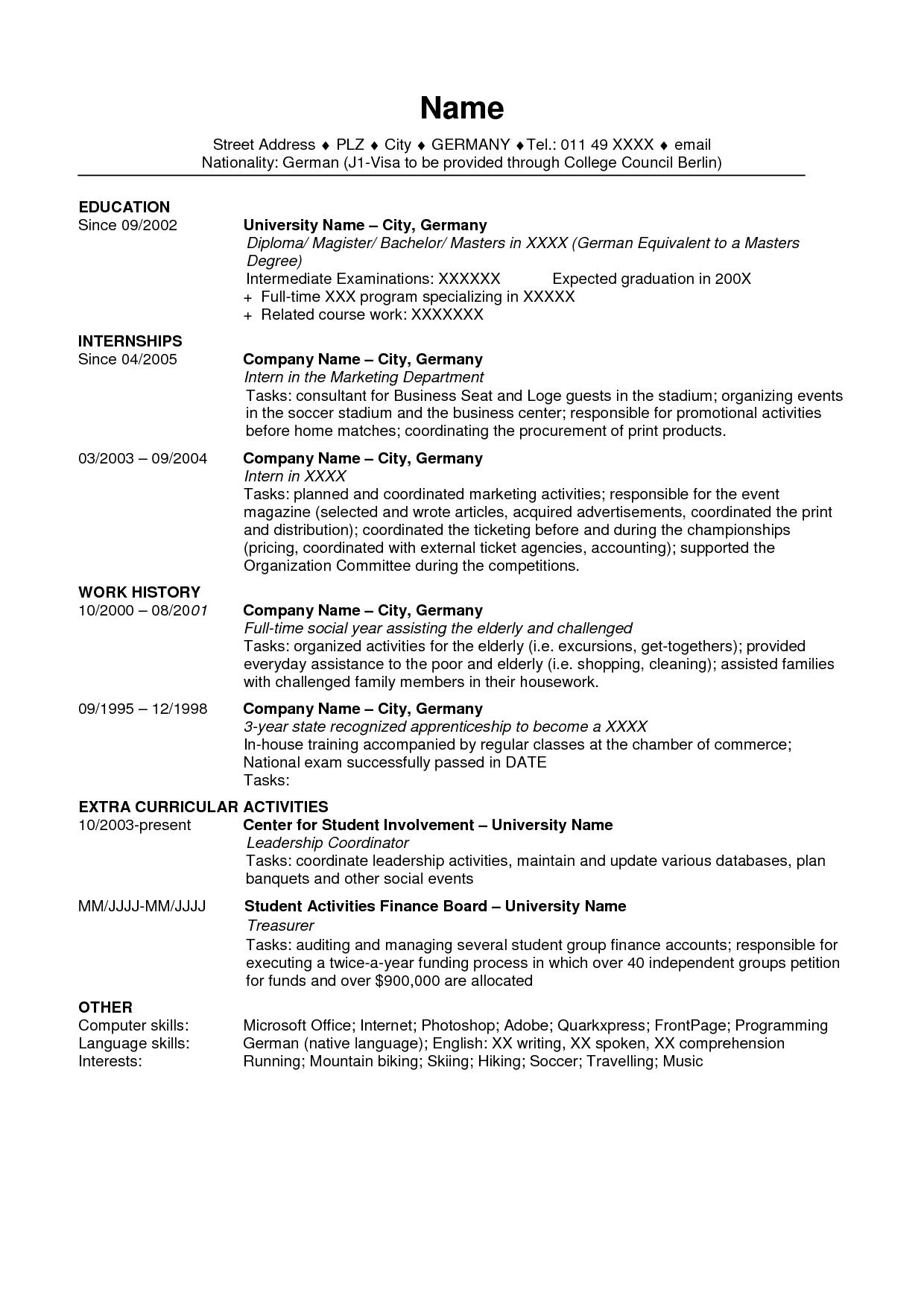 89 Excellent Us Resume Format with Ideas