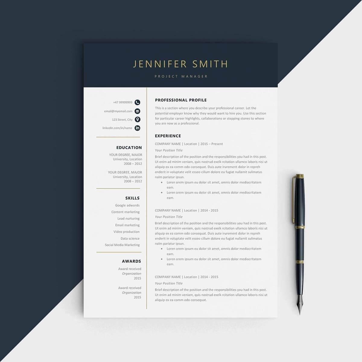 89 Inspirational One Page Resume Site by Images