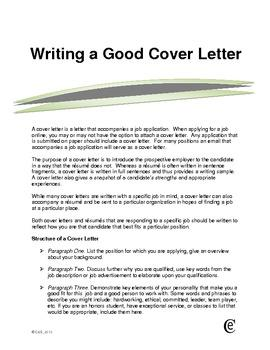 89 New Writing A Good Cover Letter with Ideas