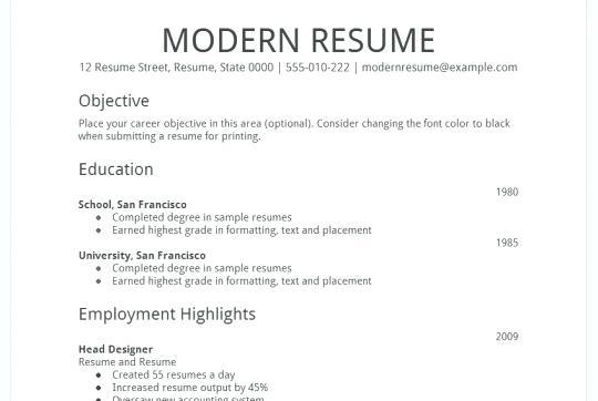 89 Stunning Google Resume Templates 2018 Free with Graphics