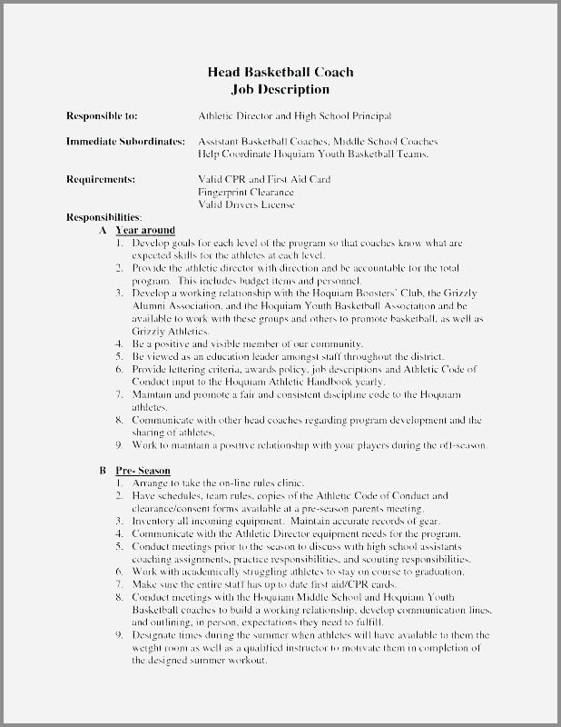 90 Awesome Basketball Coaching Resume Cover Letter by Pics
