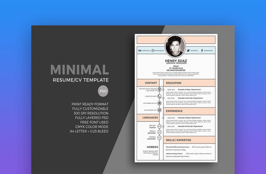 90 Best Graphic Resume Template with Graphics