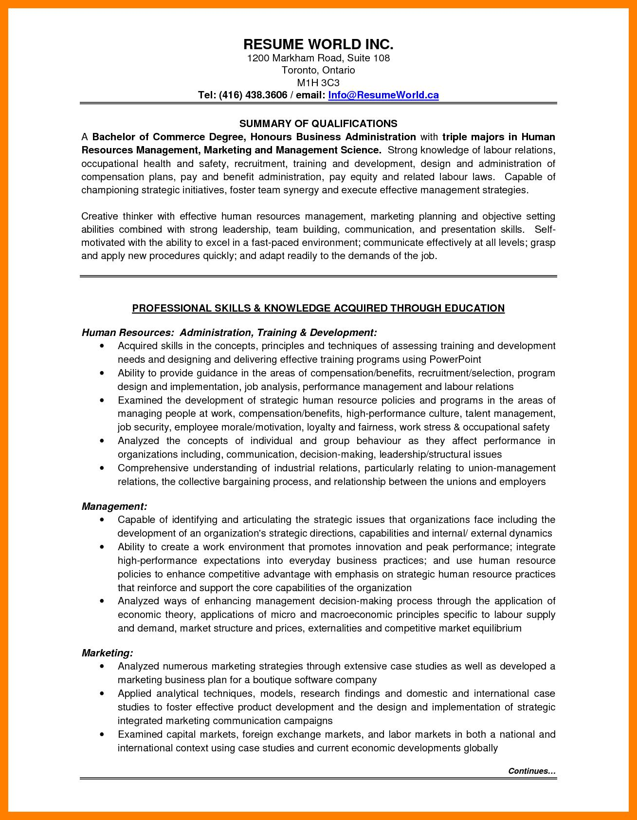 90 Excellent Entry Level Human Resources Resume by Ideas