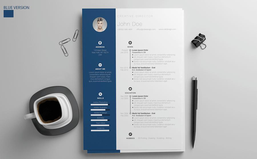 90 Lovely Free Creative Resume Templates Microsoft Word for Design