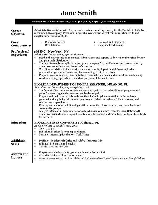 90 Nice Sample Of A Good Resume Format with Design