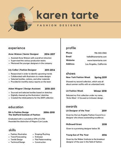 91 Best Modern Day Resume with Design
