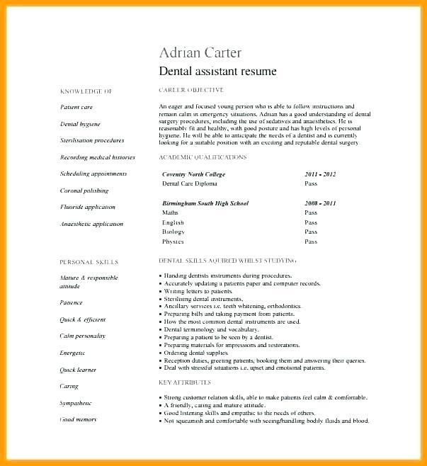 91 Cool Dental Assistant Resume Skills Examples for Pics