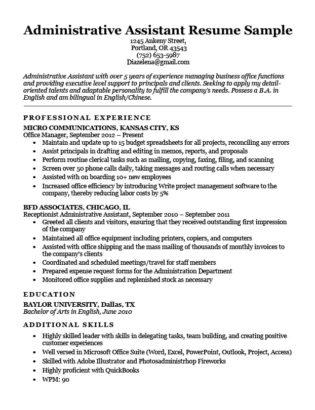 91 Lovely Examples Of Resume Cover Letters For Administrative Assistants for Gallery