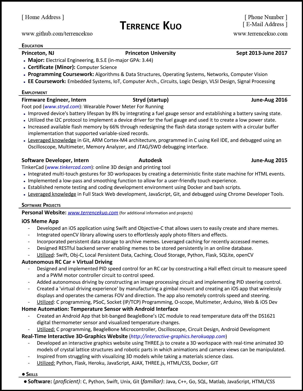 92 Cool Computer Engineering Resume for Pictures