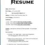 92 Excellent Basic Resume Format with Pics
