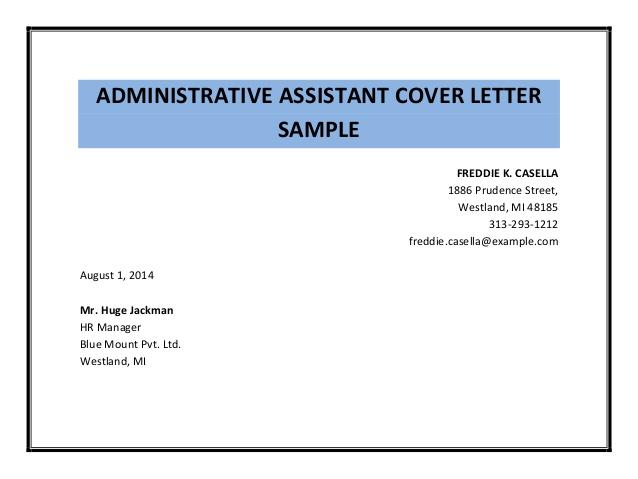 92 Excellent Examples Of Resume Cover Letters For Administrative Assistants for Design