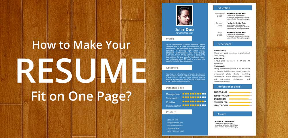 92 Great How To Make Resume Fit On One Page by Pics