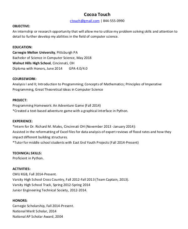 92 Inspirational Computer Engineering Resume for Pics