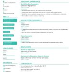 92 Inspirational Teacher Resume Template with Gallery
