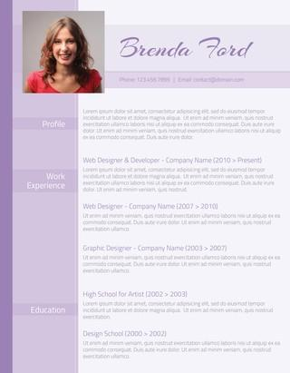 93 Beautiful Latest Resume Layout by Graphics