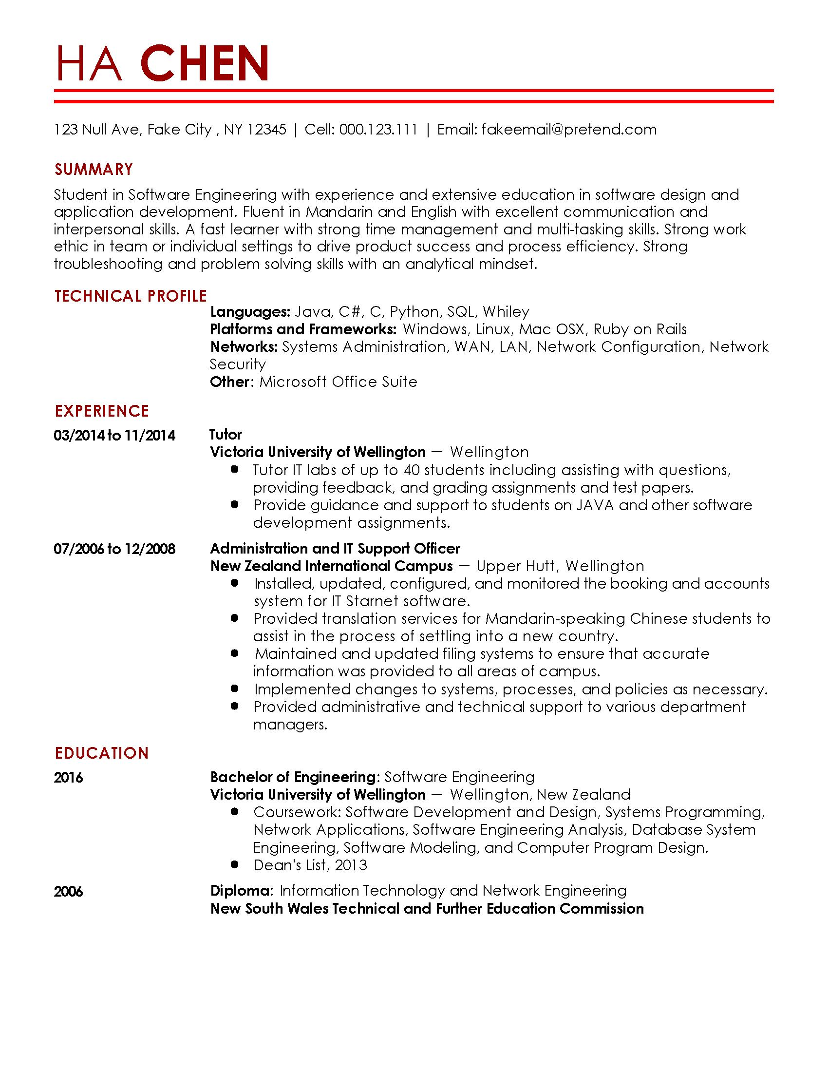 93 Best Entry Level Software Developer Resume Sample for Images