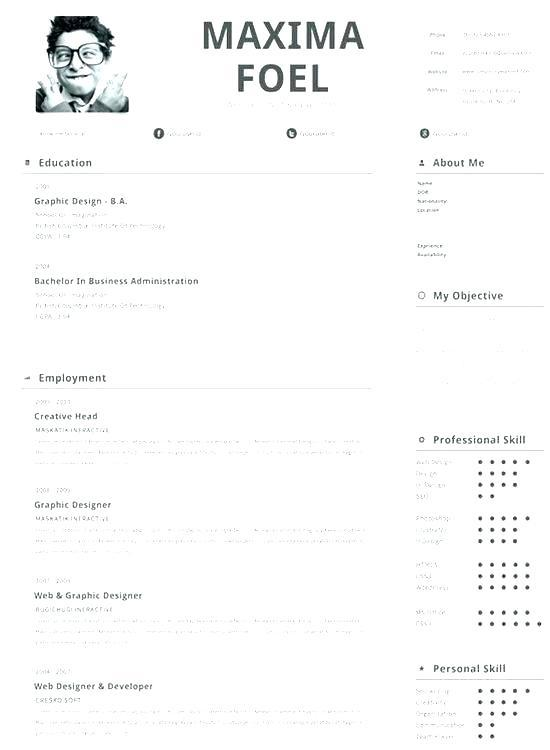 93 Best Free Resume Templates For Mac by Gallery