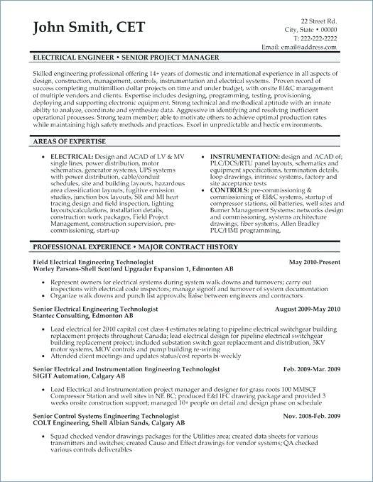 93 Great Electrical Engineering Resume Sample For Freshers with Images