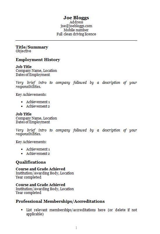 93 Inspirational Resume Template Word Doc Free for Pics
