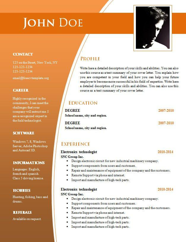 93 Inspirational Resume Template Word Doc Free with Ideas