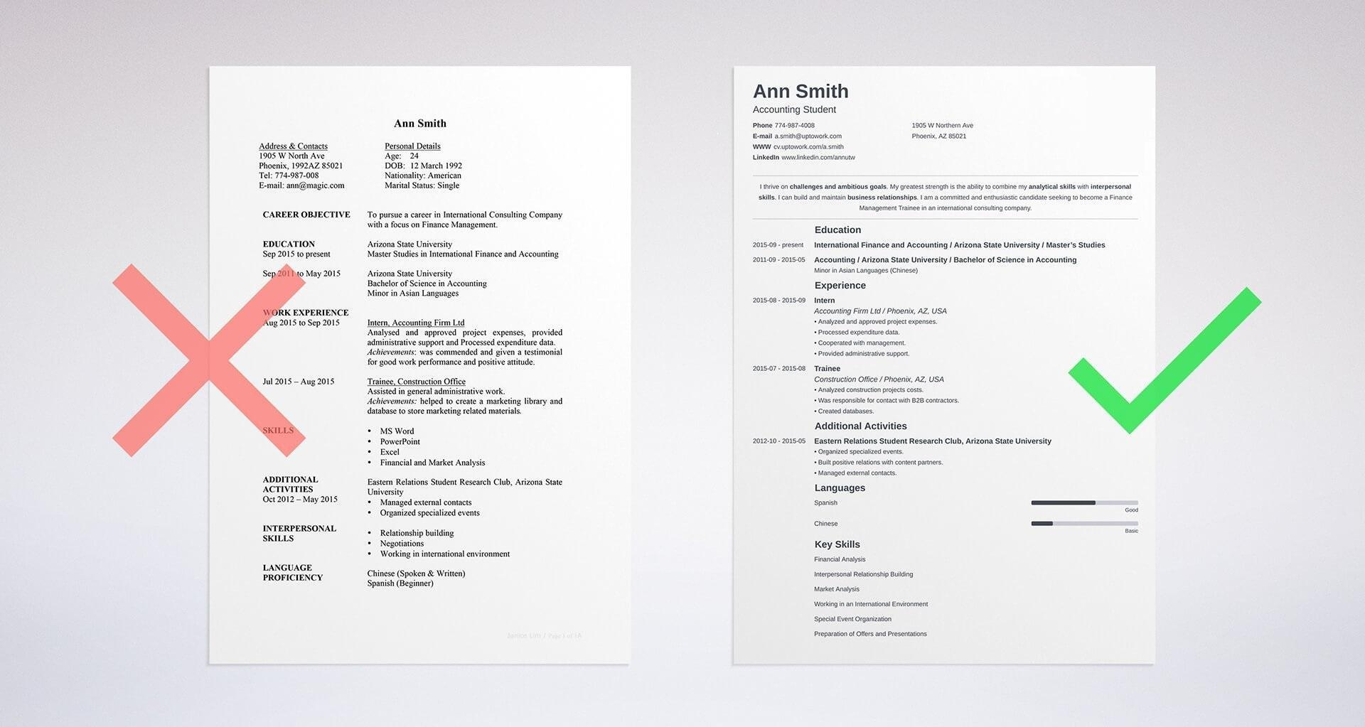 93 Nice Hot To Make A Resume with Graphics