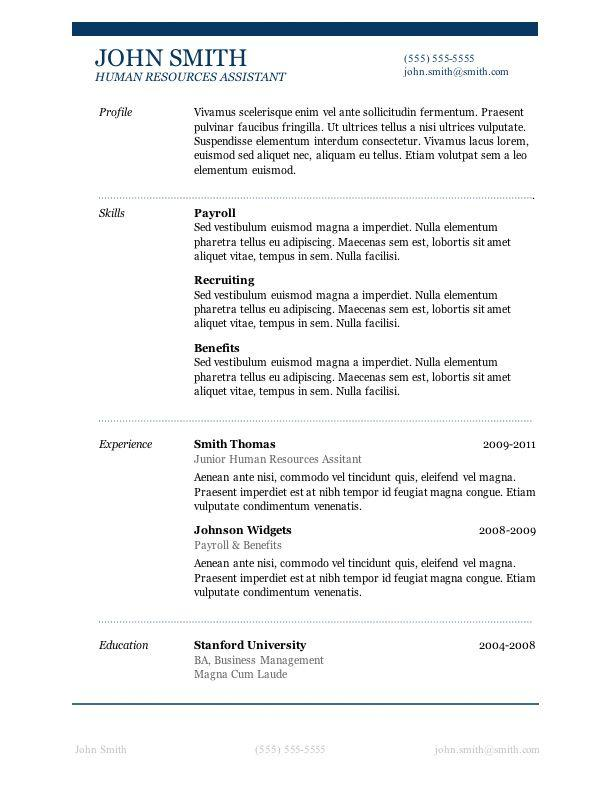 94 Beautiful Resume Examples Word by Ideas