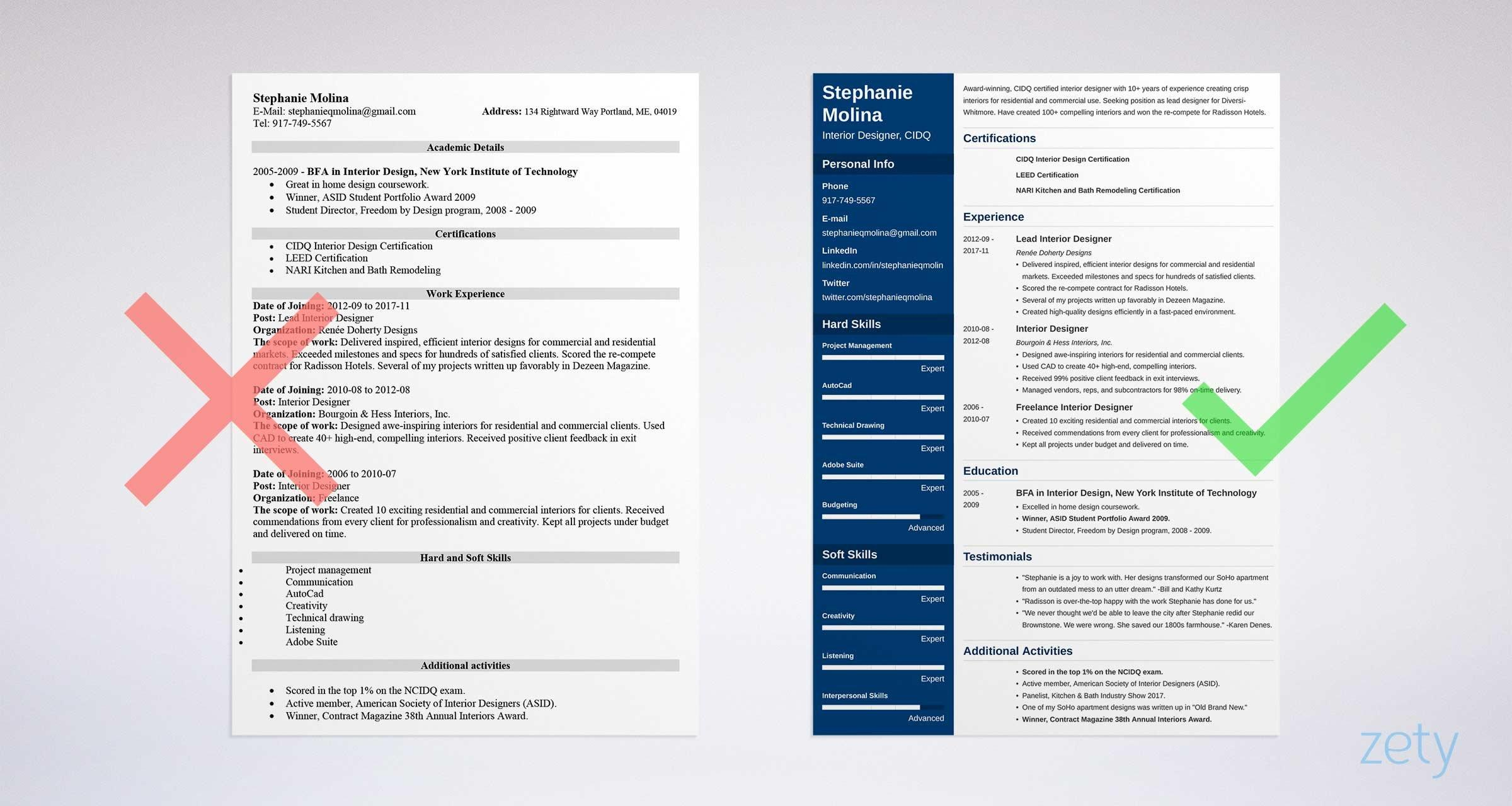 94 Beautiful The Best Free Resume Templates with Images