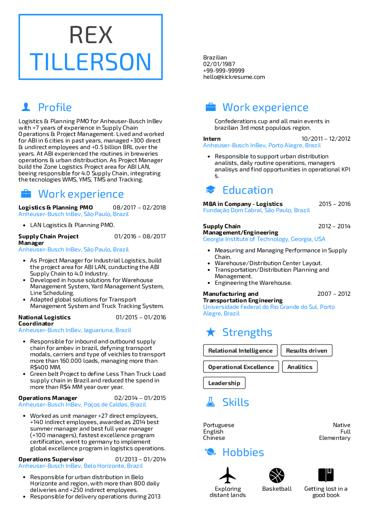 94 Lovely Engineering Resume Examples by Pics