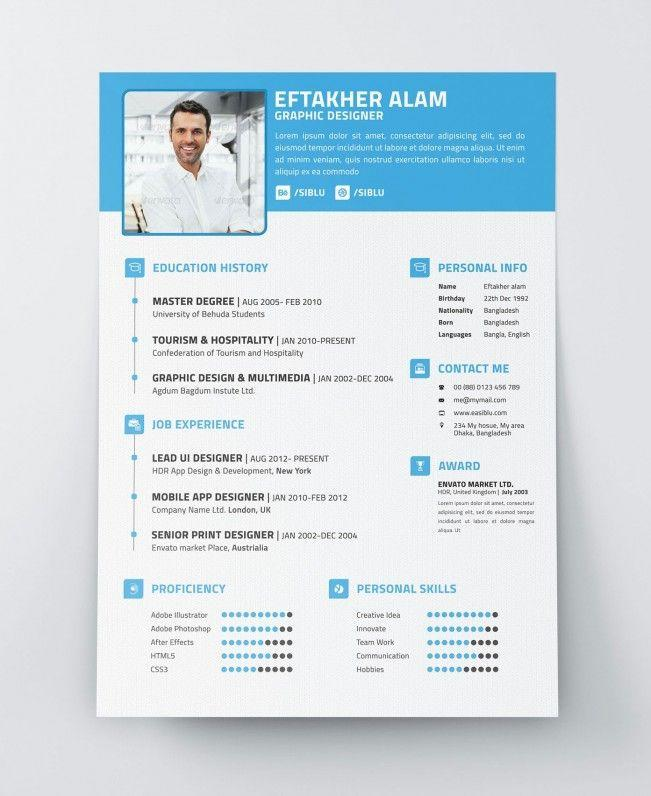 95 Excellent Modern Curriculum Vitae with Pics