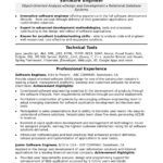 95 Nice Software Engineer Summary Resume with Pics