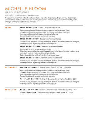 96 Awesome Great Looking Resume Templates by Design
