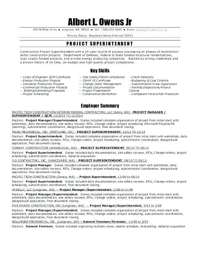 96 Stunning Construction Superintendent Resume Cover Letter Examples by Design