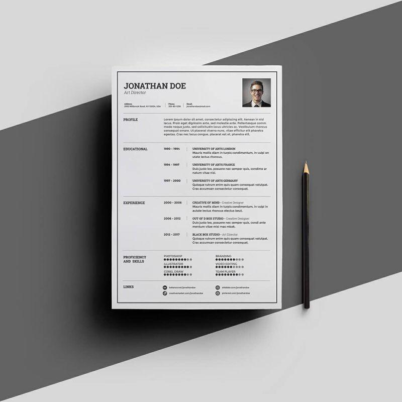 96 Top Free Creative Resume Templates Microsoft Word by Pics