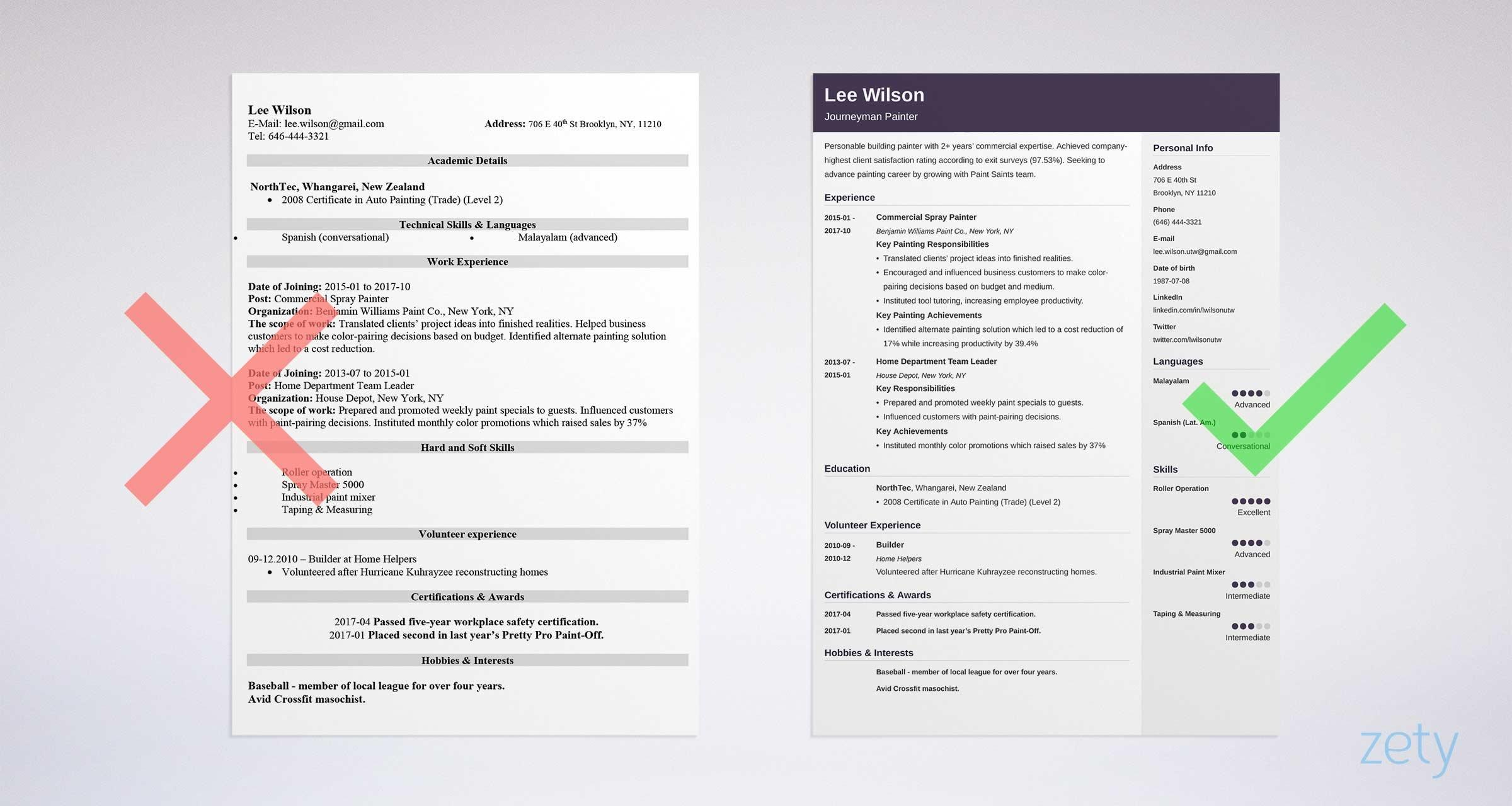 97 Beautiful Great Looking Resume Templates for Ideas