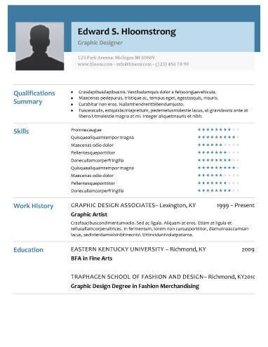 97 Beautiful Modern Resume Examples for Graphics