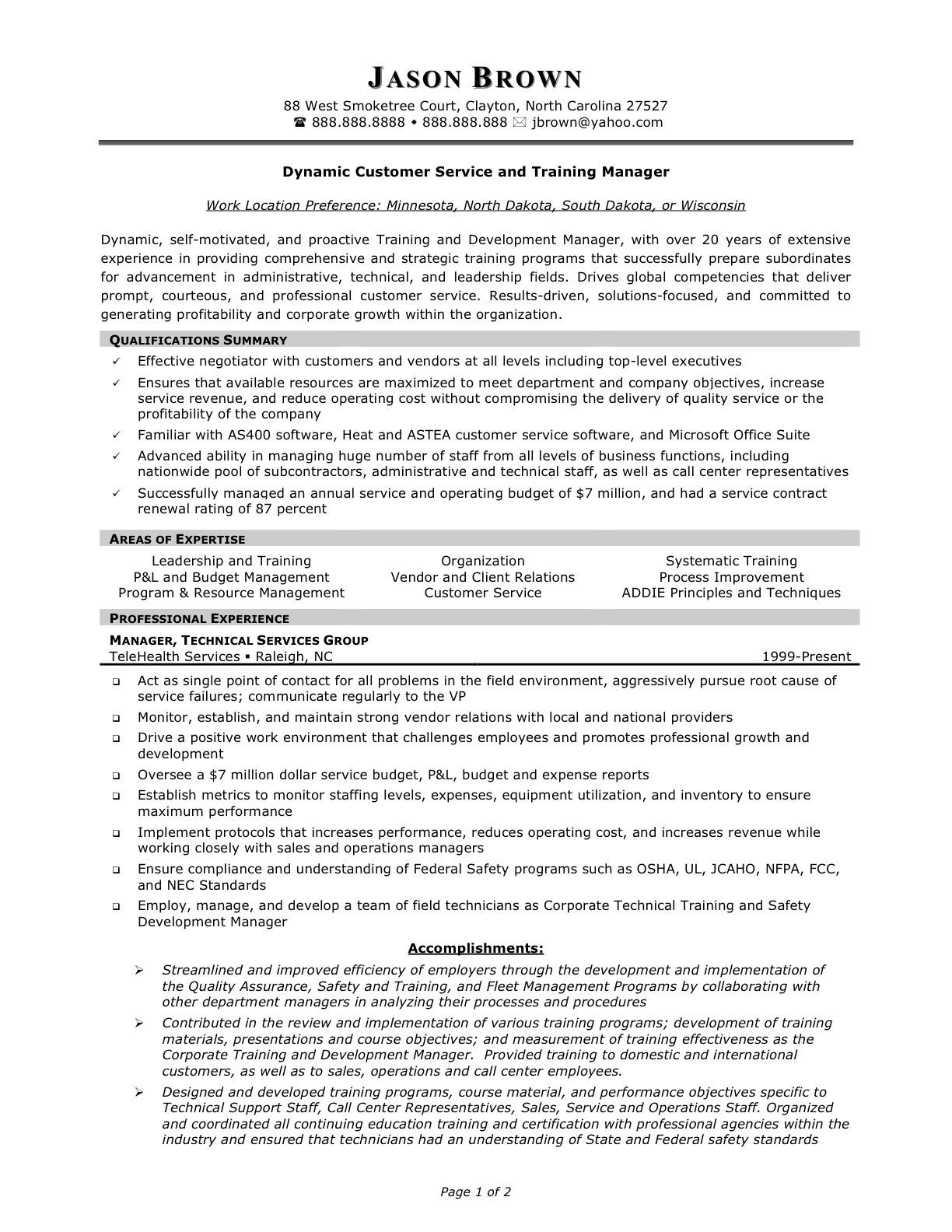 97 Great Customer Service Resume Objective Or Summary Examples for Graphics